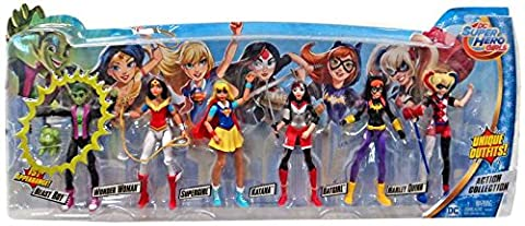 DC Super Hero Girls Dolls 6 Figure Action Collection with Beast Boy and New Outfits (Dc Figures Beast Boy)