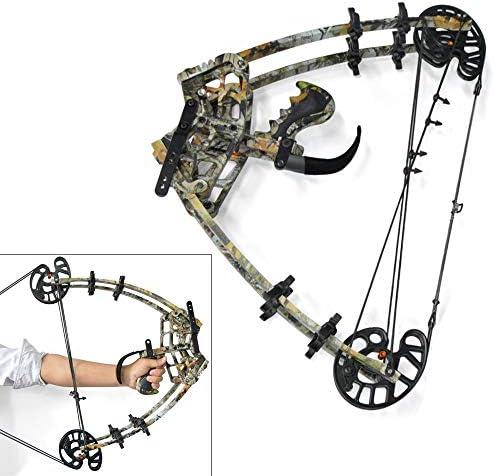 ZSHJG Bogenschießen Compound Bogen Kit Compoundbogen für die Jagd 50 lbs Jagd Stahlkugel Verbundbögen Mehrzweck Compoundbogen für das Jagdschießen