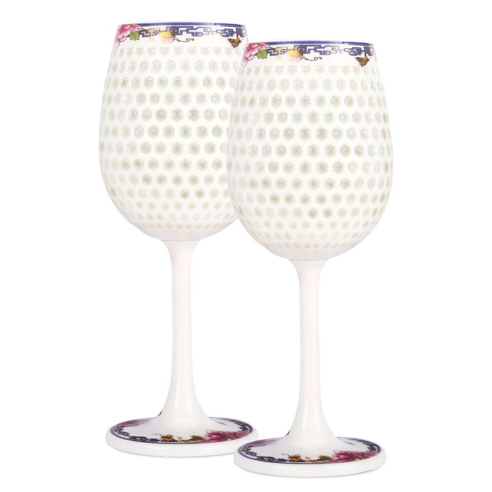 Red Wine Goblet, White Wineglass,Bordeaux Goblet - for Family Meals, Party, Bars, Gifts, and Collections(2Pcs)