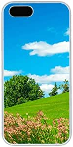 Prairie Sky Clouds Trees Retro Vintage Apple iPhone 5 5S Case, iPhone 5/5S Hard Shell White Cover Cases by iCustomonline