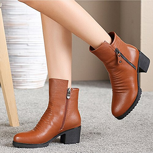 CAMEL Womens High Heel Ankle Boots Color Brown Size 39 M EU 6wnRtRn