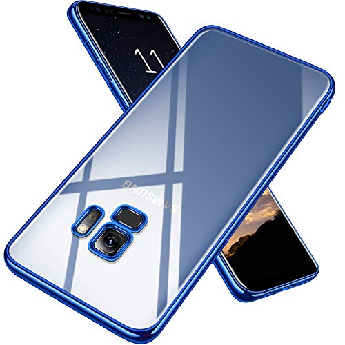 Clear Blue Case Crystal - TORRAS Crystal Clear Galaxy S9 Case, Ultra Thin Slim Fit Soft TPU Protective Transparent Cover Case Compatible with Samsung Galaxy S9 (5.8