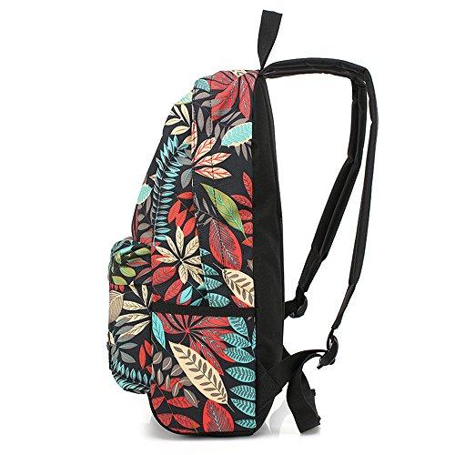 Otomoll Mode Entworfen Drucken Männer Frauen Rucksack Leder Schultasche Lässigen Stil Rucksäcke + Kleine Beutel Tasche Laptop Rucksack 42 * 27 * 12 Cm