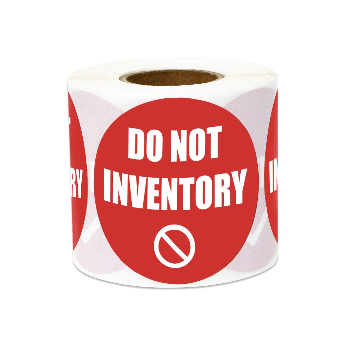 300 Label Per Roll SOJITEK A-TD-OFSSPS738-RED-005 Do Not Inventory Sticker Count Warehouse Label 2 Round Red 5 Rolls
