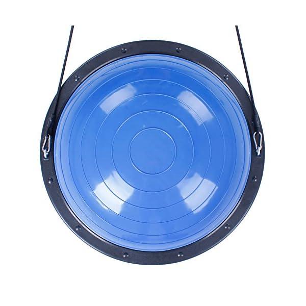 BuoQua Mezza Sfera Cupola Palla 60cm Balance Trainer Equilibrio Azzurro Palla Balance Trainer con Cinghie Laterali E… 6 spesavip