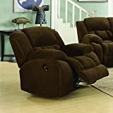 Cheap Coaster Weissman Casual Pillow Padded Glider Recliner, Brown
