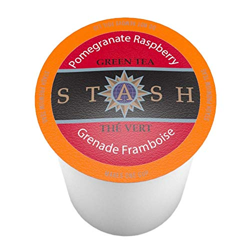 Stash Tea Pomegranate Raspberry Single-Cup Tea for Keurig K-Cup Brewers, 12 Count (Pack of 6)