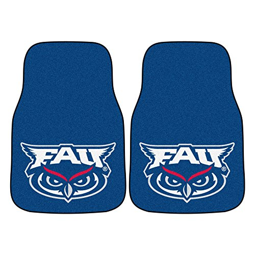 FANMATS NCAA Florida Atlantic University Owls Nylon Face Carpet Car Mat ()