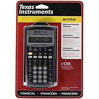 AmazonCom  Texas Instruments Advanced Financial Calculator Ba