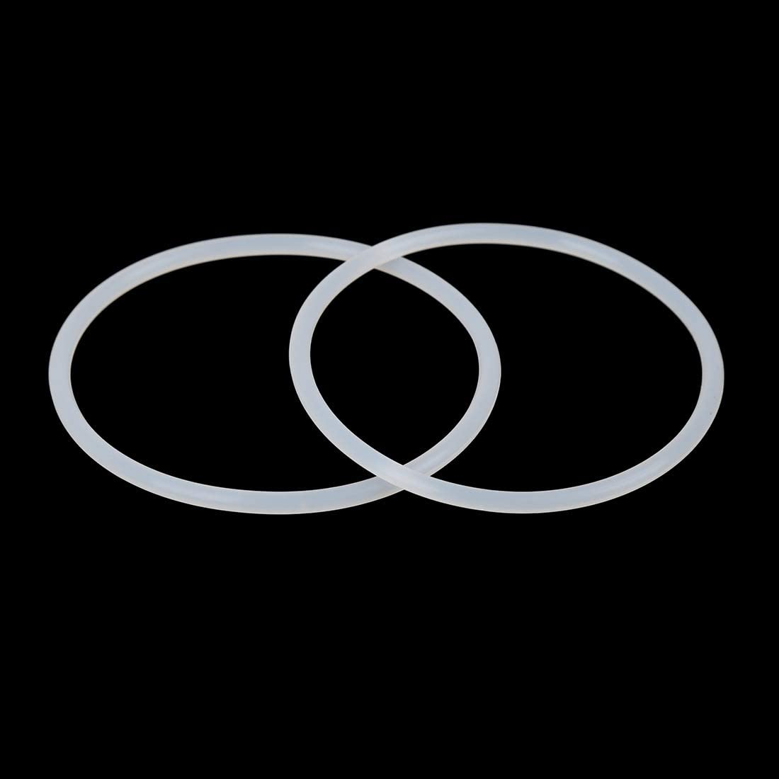 X AUTOHAUX 5St Silikon O-Ring Dichtungsscheibe f/ür Auto 75mm X 3.5mm wei/ß