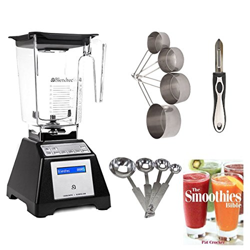 BlendtecTB-621-25 Total Blender Classic with WildSide Jar + Smoothies Bible and Kitchen Accessory Bundle (Certified Refurbished)