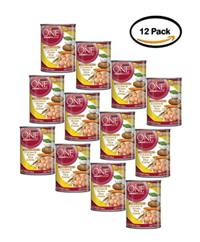 PACK OF 12 - Purina ONE SmartBlend Classic Ground Chicken & Brown Rice Entree Adult Dog Food 13 oz. Can