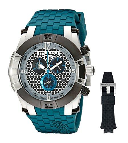 MULCO Men's MW5-3068-435 Prix Snap Analog Display Swiss Quartz Black Watch