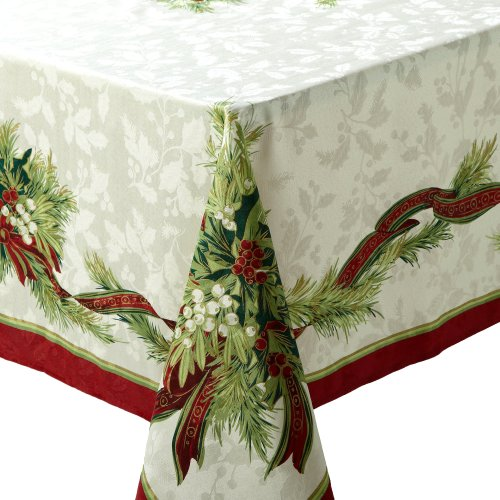 Benson-Mills-Christmas-Ribbons-Engineered-Printed-Tablecloth-55-Percent-Cotton-45-Percent-Polyester