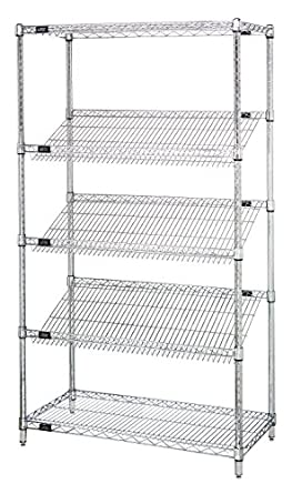 Quantum Storage Systems 1836SL6C 5-Tier Wire Shelving Unit with 3 ...