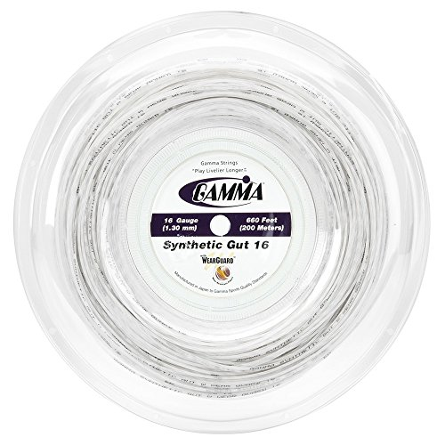 Gamma Synthetic Gut Tennis String - Gamma Challenger Synthetic Gut 16 Gauge Reel