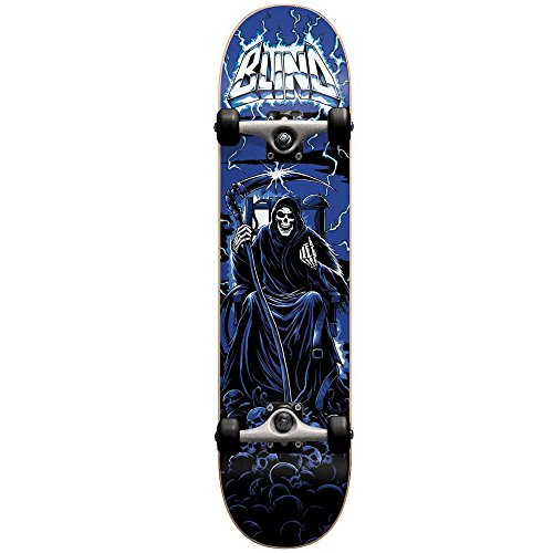 Blind 10511840 Lightning Blue Complete Skateboard, Blue, Size 8.0FU (Grip Skateboard Tape Lightning)