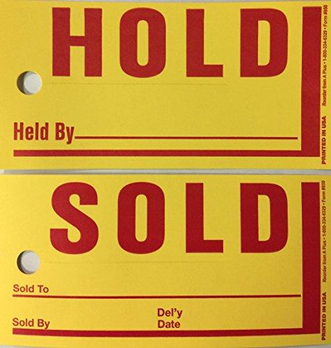 Jumbo Hold Sold Tag Jumbo Merchandise Tag 250 Per Box (Yellow)(U4R)