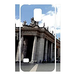 Fashional Charming Dustproof Building Pattern Phone Accessories Cover Skin for Samsung Galaxy S5 I9600 Case