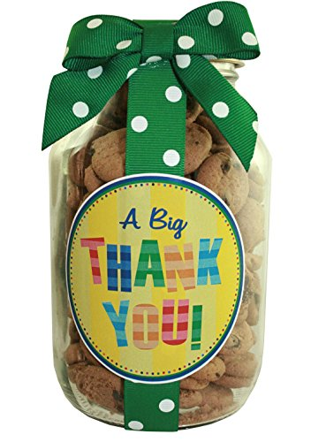 Nams Bits Chocolate Chip Cookies Glass 10oz Jar - A BIG Thank You