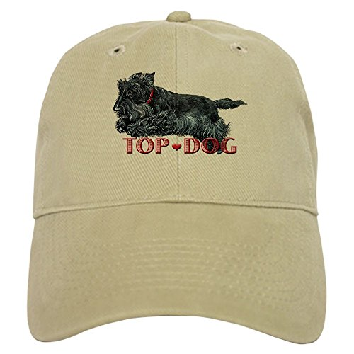 - CafePress Top Dog Scottish Terrier Baseball Cap with Adjustable Closure, Unique Printed Baseball Hat Khaki