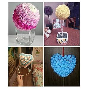 Artificial flowers Rose wedding decorations party Flower Bouquet Solid DIY wreath Craft fake flowers 288pcs/lot 3CM 5