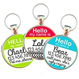 Hello My Name Is'' Silver Pet ID Tag