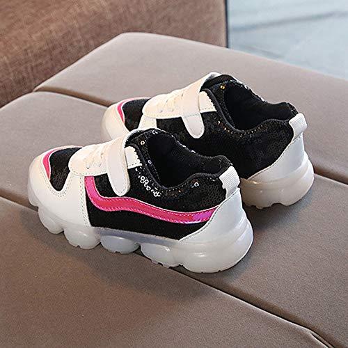 Unisexe Running Confortable Course De À Enfant Competition Sport Sneakers Entrainement Soldes Led Noir Chaussure Kukicat Flash Paillettes Baskets Chaussures 06qHF7