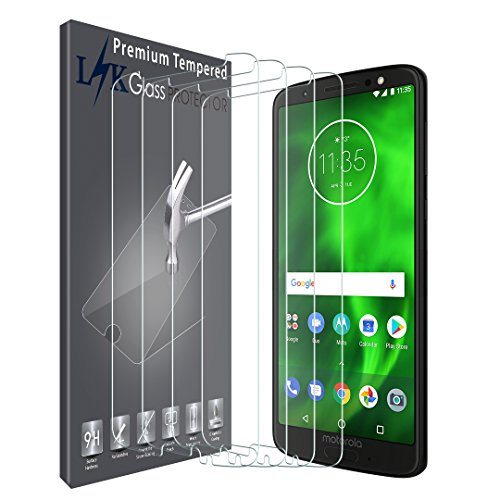 [4 Pack] LK Screen Protector for Motorola Moto G6, [Tempered Glass] [Bubble Free] 9H Hardness with Lifetime Replacement Warranty