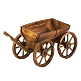 Summerfield Terrace Wood Planters, Garden Planters, Contemporary Outdoor Apple Barrel Planter Wagon