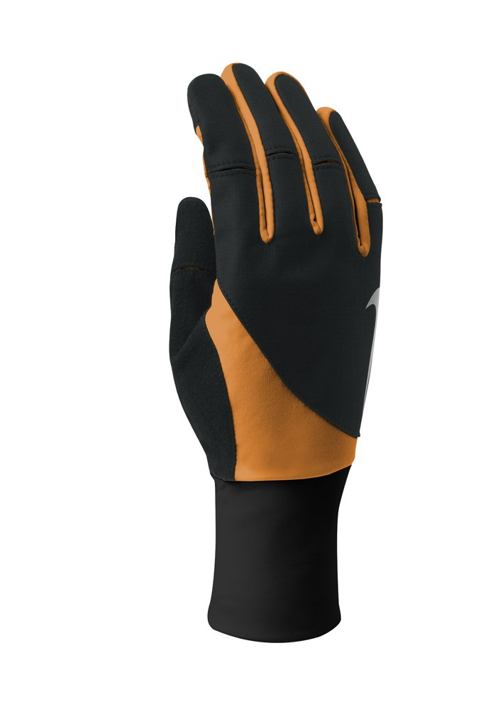 Nike Women's Storm Fit 2.0 Run Gloves (Medium, Black/Bright Citrus) by Nike (Image #1)