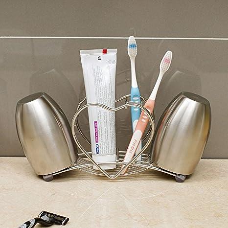 CNBBGJ Creative porta cepillo de dientes de acero inoxidable ...