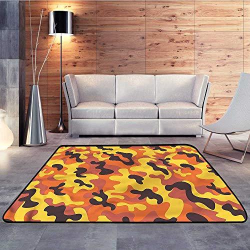 Rubber mat,Camo,Lively Colorful Camo ArtW 47