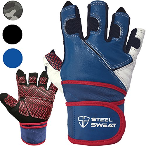 Weightlifting-Gloves-with-18-inch-Wrist-Wrap-Support-for-Workout-Gym-and-Fitness-Training-Best-for-Men-and-Women-Who-Love-Weight-Lifting-Leather-ZED-Blue
