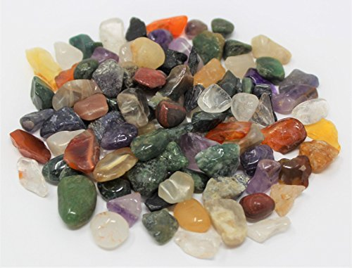Glob Bulk 1/4 lb Loose Mixed Assorted Chips 5-15 mm Semi Tumbled Stones (4 oz)