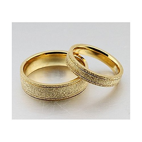 Amazon The New Titanium Steel Plated 18k Gold Wedding Rings