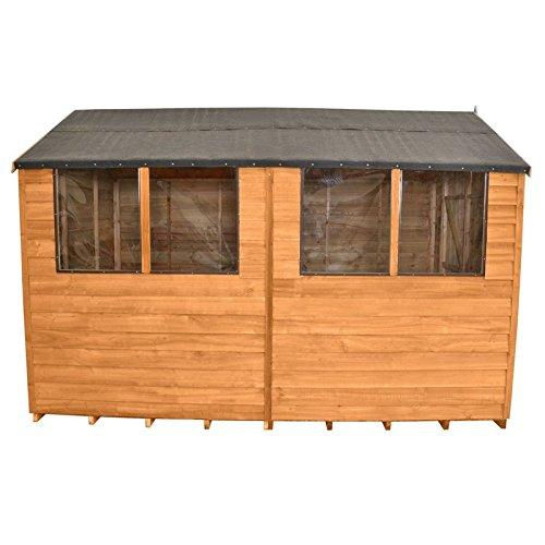 Caseta cobertizo de jardín de madera de 10 x 8 de almacenamiento Doble Puerta Tejado 10 ft 8 ft: Amazon.es: Jardín
