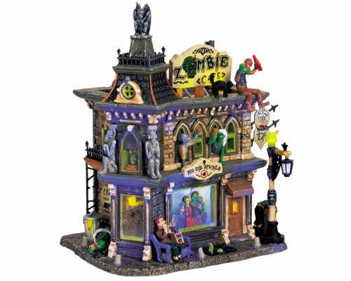 Lemax Spooky Town Zombie's Café with Adaptor # 65346 -
