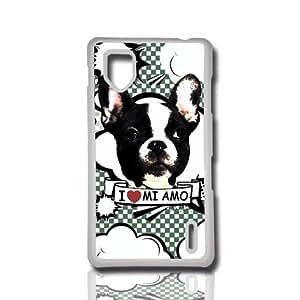 carcasa funda para movil compatible con lg optimus g bulldog frances perro can dog