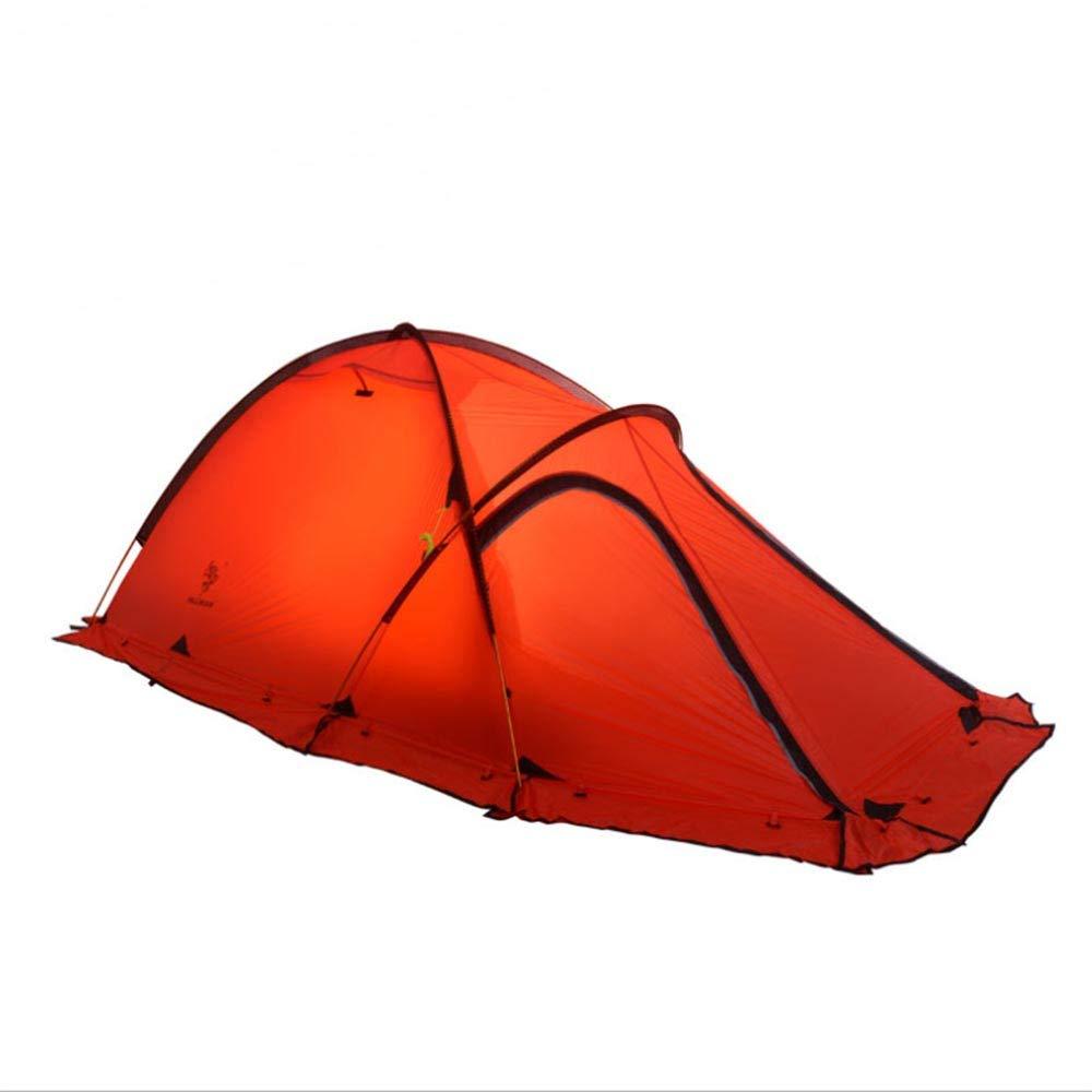 GXYZZ Produits de Plein air Ultra-légers Quatre Saisons enrobées de Silicium Anti-tempête de Pluie Montagne Camping Tente de Camping,Red