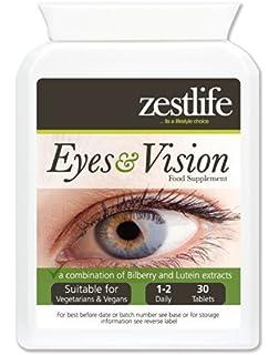 Zestlife Ojos y Visión Suplemento 30 comprimidos | Una combinación de arándano y Eufrasia extrae |