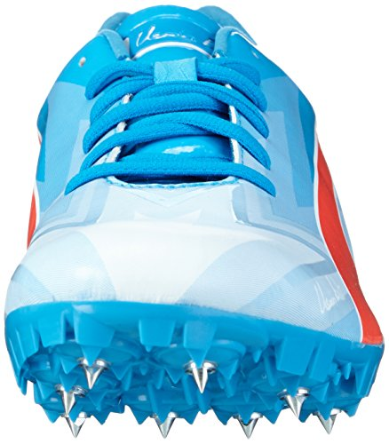 Puma Bolt Evospeed Electric V3 - Zapatillas de Entrenamiento Unisex adulto Blanco - Weiß (white-atomic blue-red blast 01)