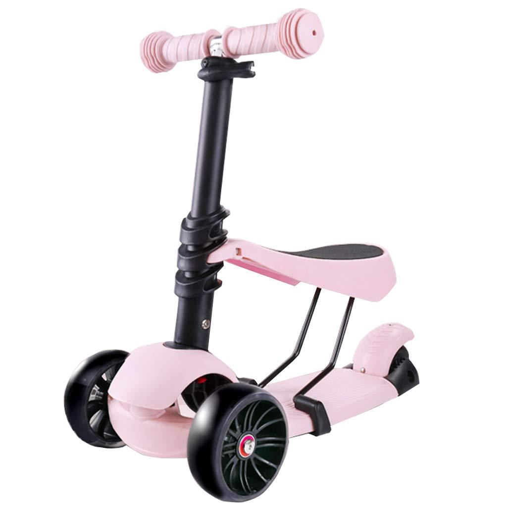 幼児のための取り外し可能な座席2-1 - 調節可能な3輪キックスクーター子供と子供のためのスクーター楽しい屋外のおもちゃゲームの外子供向けのアクティビティ B07QWPL9WL B B