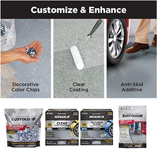Rust-Oleum 293513 Rocksolid Polycuramine Garage Floor Coating, 2.5 Car Kit, Gray