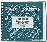Ekonomik - Wirebound Check Register Accounting System, 8 3/4 x 10, 40-Page Book A (DMi EA