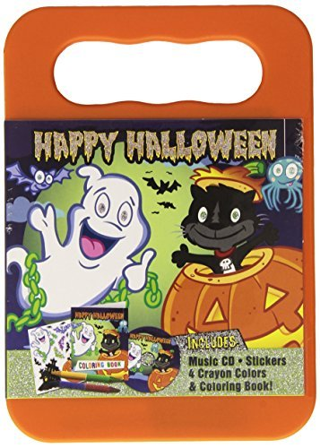(HAPPY HALLOWEEN CD (Activity Kit with Carrying Case, Stickers, Crayons and Coloring Book) by Mr. Ray and The Little Sunshine)