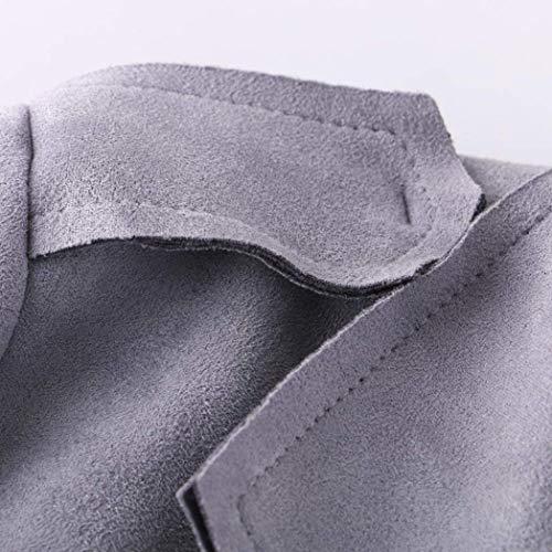 Con Fashion Outerwear Larga Solapa Transición Mujer Abrigos Battercake Sólidos Primavera Cinturón Otoño Elegantes Gamuza Abrigo Grau Largas De Colores Mujeres Casuales Chaqueta Manga HRCwq6C