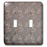 3dRose lsp_275096_2 Image of Dark Aloha Copper Foliage Metal Leaf Tropical Hawaii Pattern Toggle Switch, Mixed