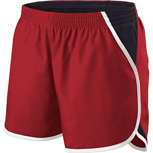 Holloway Sportswear Girls Energize Shorts. 229425 Scarlet / Black / White XL by Holloway