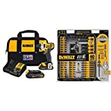 DEWALT DCF885C2 20-Volt MAX Lithium Ion 1/4-Inch 1.5 Ah Impact Driver Kit with DEWALT DWA2T40IR IMPACT READY FlexTorq Screw Driving Set, 40-Piece